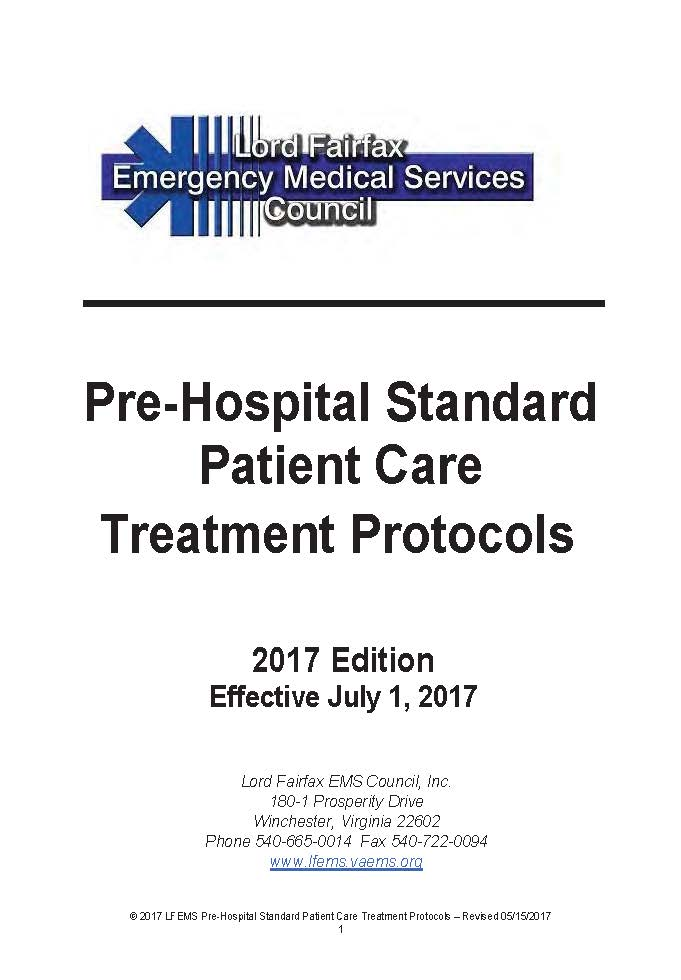 Lord Fairfax EMS Council Protocols July 2017 FINAL